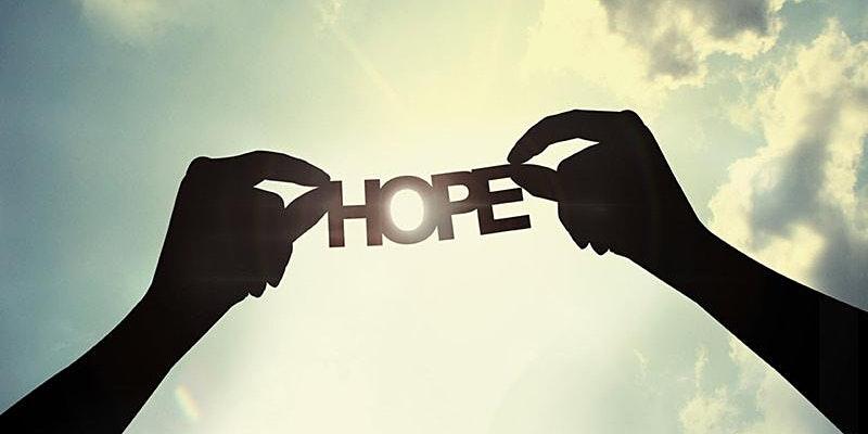 Hands holding hope symbol